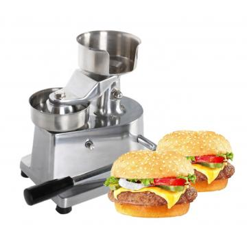 Automated Robot Fast Food Press Stuffed Burgers Meat Momentum Machine